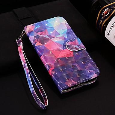غطاء من أجل Apple iPhone XS / iPhone XR / iPhone XS Max محفظة / حامل البطاقات / مع حامل غطاء كامل للجسم نموذج هندسي قاسي جلد PU