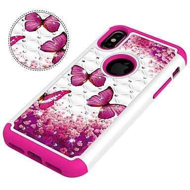 retro agli iPhone Per Plus Fantasia iPhone PC iPhone diamantini disegno urti 8 Per Custodia iPhone Resistente Resistente 8 X 8 06915836 per Con Farfalla iPhone Apple X Og6E0xw