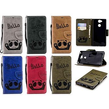 غطاء من أجل Sony Xperia XA2 / Xperia L2 محفظة / حامل البطاقات / قلب غطاء كامل للجسم باندا قاسي جلد PU