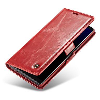 Недорогие Чехлы и кейсы для Galaxy Note 4-CaseMe Кейс для Назначение SSamsung Galaxy Note 9 / Note 8 Кошелек / Бумажник для карт / Флип Чехол Однотонный Твердый Кожа PU для Note 9 / Note 8 / Note 5