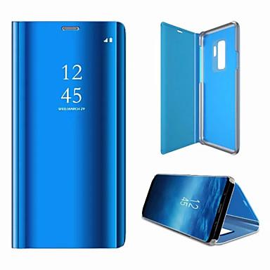 غطاء من أجل Samsung Galaxy S9 / S9 Plus / S8 Plus مرآة / قلب غطاء كامل للجسم لون سادة قاسي الكمبيوتر الشخصي