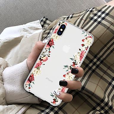 Coque Pour Apple iPhone X / iPhone 8 Plus Transparente Coque Fleur Flexible TPU pour iPhone X / iPhone 8 Plus / iPhone 8