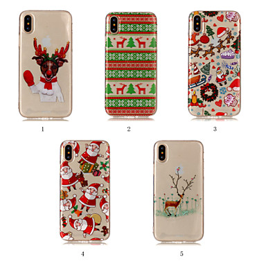 Case For Apple iPhone XR / iPhone XS Max IMD / Pattern Back Cover Christmas Soft TPU for iPhone XS / iPhone XR / iPhone XS Max