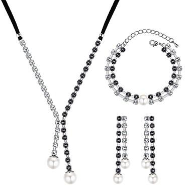 Women s Tennis Chain Jewelry Set - Imitation Pearl 5c8e6ba2a
