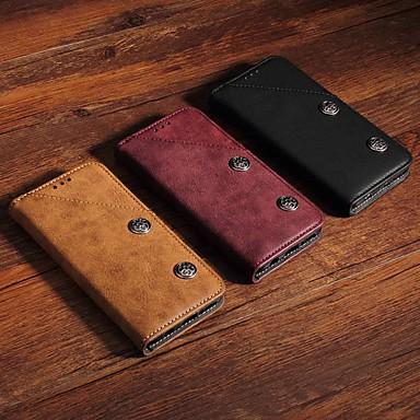 voordelige Galaxy Note-serie hoesjes / covers-hoesje Voor Samsung Galaxy Note 9 Portemonnee / Kaarthouder / met standaard Volledig hoesje Effen / Tegel Hard PU-nahka