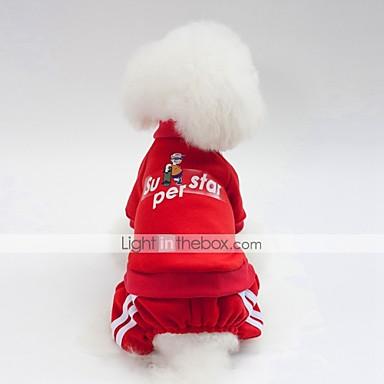 Σκυλιά Πουλόβερ Ρούχα για σκύλους Βρετανικό Σύνθημα Σκούρο μπλε Κόκκινο Ροζ Βαμβάκι Στολές Για Μπουλντόγκ Σίμπα Ίνου Πάγκ Φθινόπωρο Χειμώνας Γιούνισεξ Καθημερινά Θερμαντικά