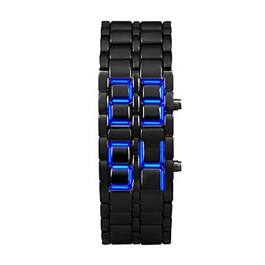 זול שעוני גברים-בגדי ריקוד גברים שעון דיגיטלי קווארץ שחור 30 m LCD דיגיטלי יום יומי אופנתי - אורנג ' / שחור כסוף / כחול כסוף / אדום