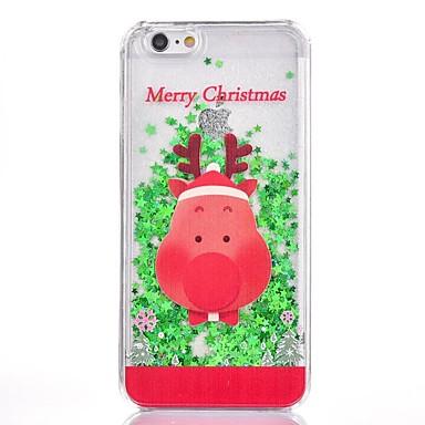 voordelige iPhone 7 hoesjes-hoesje Voor Apple iPhone 8 Plus / iPhone 8 / iPhone 7 Plus Glitterglans Achterkant Kerstmis Hard Muovi