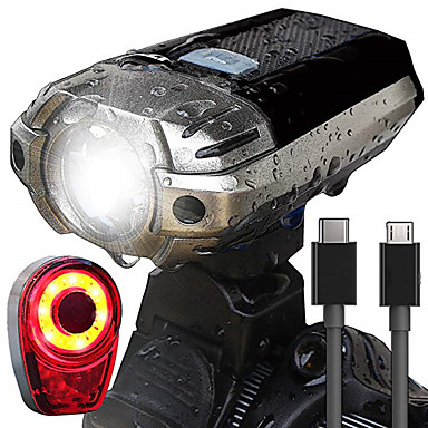 cheap Bike Lights-LED Bike Light Rechargeable Bike Light Set Front Bike Light Rear Bike Tail Light Mountain Bike MTB Cycling Waterproof Portable Easy Carrying Rechargeable Battery 1000 lm Rechargeable Power Daylight