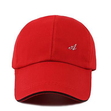 billige Tilbehør til herrer-Herre Baseballcaps Ensfarget Polyester Hvit Svart Rød