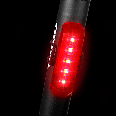 cheap Bike Lights-LED Bike Light Rear Bike Tail Light Mountain Bike MTB Cycling Waterproof Quick Release Lightweight Rechargeable Li-Ion Battery 80 lm Red Police / Military Cycling / Bike / ABS