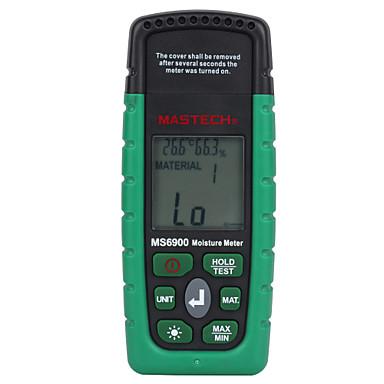 mastech ms6900デジタル水分計木材腰部コンクリートビルド温度湿度テスターlcdディスプレイバックライト付き