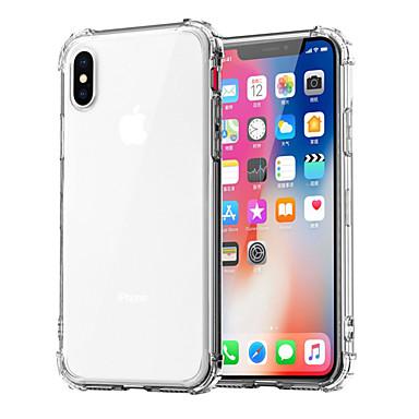 voordelige iPhone 5 hoesjes-hoesje Voor Apple iPhone XS / iPhone XR / iPhone XS Max Schokbestendig / Transparant Achterkant Effen Zacht TPU