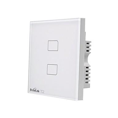 cheap Smart Switch-BroadLink Smart Switch TC2 2gang-UK for Living Room / Study / Bedroom APP Control / WIFI Control / intelligent 170-240 V