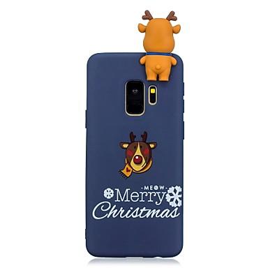رخيصةأون Galaxy S6 Edge أغطية / كفرات-غطاء من أجل Samsung Galaxy S9 / S9 Plus / S8 Plus نموذج غطاء خلفي عيد الميلاد ناعم TPU
