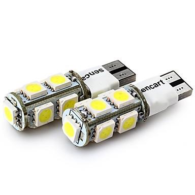 Недорогие Фары для мотоциклов-SENCART 4шт T10 Мотоцикл / Автомобиль Лампы 2 W SMD 5050 120 lm 9 Светодиодная лампа Лампа поворотного сигнала / Задний свет / Внутреннее освещение Назначение
