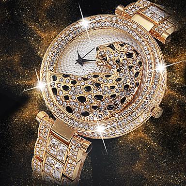 Pentru femei Ceas de Mână Diamond Watch ceas de aur Japoneză Quartz Japonez Oțel inoxidabil Argint / Auriu 30 m Creative Model nou Cool Analog femei Lux Modă Bling bling - Auriu Argintiu Aur / argint