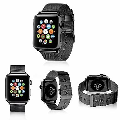 זול רצועות שעון-מתכת אל חלד צפו בנד רצועה ל Apple Watch Series 4/3/2/1 שחור / כסף / אדום 23cm / 9 אינץ ' 2.1cm / 0.83 אינצ'ים