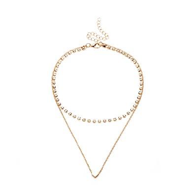 billige Mode Halskæde-Dame Link / Chain Halskædevedhæng wrap halskæde Damer Simple Hængende Tropisk Sødt Guld 35 cm Halskæder Smykker 1pc Til Stævnemøde Begynder