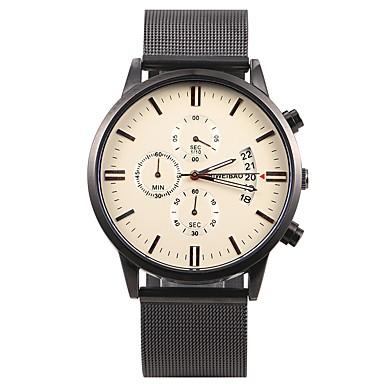levne Pánské-SHI WEI BAO Pánské Sportovní hodinky Náramkové hodinky japonština Křemenný Nerez Černá 30 m Voděodolné Kalendář Chronograf Analogové Na běžné nošení Módní - Modrá Zlatá Zlatá / černá Jeden rok