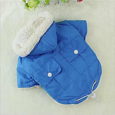Chiens / Chats Manteaux Vêtements pour Chien Couleur Pleine Vert / Bleu / Rose Coton Costume Pour les animaux domestiques Unisexe Décontracté / Quotidien / Mode