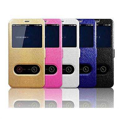 voordelige iPhone 7 hoesjes-hoesje Voor Apple iPhone XS / iPhone XR / iPhone XS Max met standaard / met venster / Flip Volledig hoesje Effen Hard PU-nahka
