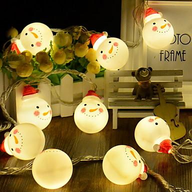 4 m Łańcuchy świetlne 20 Diody LED Ciepła biel Dekoracyjna Zasilanie bateriami AA 1 zestaw