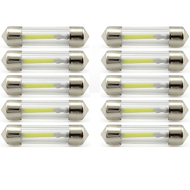 voordelige Autobinnenverlichting-10 stuks 41mm Automatisch Lampen 1 W COB 85 lm 1 LED Interior Lights / Exterieur Lights Voor Universeel Universeel / KX5 Universeel