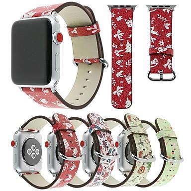 voordelige Smartwatch-accessoires-Horlogeband voor Apple Watch Series 4/3/2/1 Apple Leren lus Leer / Echt leer Polsband