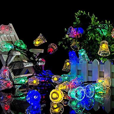6 m Łańcuchy świetlne 30 Diody LED Wiele kolorów Dekoracyjna Zasilanie solarne 1 zestaw