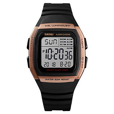 Χαμηλού Κόστους Ανδρικά ρολόγια-SKMEI Ανδρικά Αθλητικό Ρολόι Στρατιωτικό Ρολόι Ψηφιακό ρολόι Ψηφιακό Συνθετικό δέρμα με επένδυση Μαύρο 50 m Συναγερμός Ημερολόγιο Χρονογράφος Ψηφιακό Καθημερινό Μοντέρνα -  / Ενας χρόνος / Χρονόμετρο