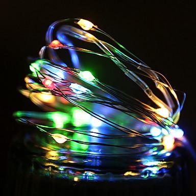 1 m Łańcuchy świetlne 10 Diody LED Wiele kolorów Dekoracyjna Zasilanie bateriami AA 1 zestaw