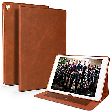Cooho Case For Apple iPad Pro 10.5 / iPad Pro 9.7 Card Holder / Shockproof / Water Resistant Full Body Cases Solid Colored Soft PU Leather / TPU for iPad Air / iPad 4/3/2 / iPad Mini 3/2/1