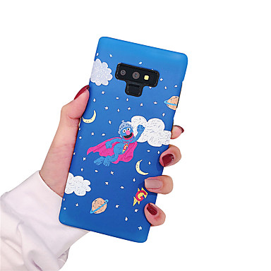 voordelige Galaxy Note-serie hoesjes / covers-hoesje Voor Samsung Galaxy Note 9 / Note 8 Glow in the dark / Mat Achterkant Landschap / Bloem Hard PC