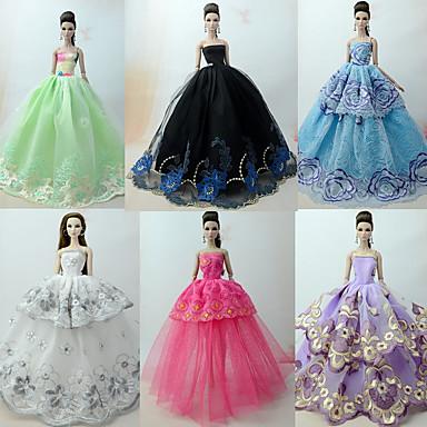Princess Lolita / Elegant / Rochie De Bal Rochii 6 pcs Pentru Barbiedoll organza Haine de Păpușă Pentru Fata lui păpușă de jucărie