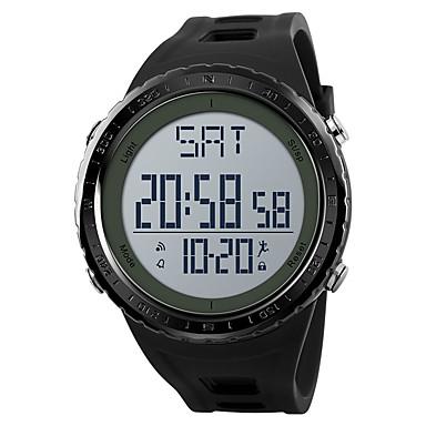 SKMEI בגדי ריקוד גברים שעוני ספורט שעונים צבאיים שעון דיגיטלי דיגיטלי דמוי עור מרופד שחור / אפור / תלתן 50 m Alarm לוח שנה כרונוגרף דיגיטלי יום יומי אופנתי - שחור אפור ירוק שנה אחת חיי סוללה