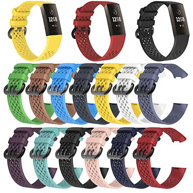billige Telefontilbehør-Klokkerem til Fitbit Charge 3 Fitbit Sportsrem Silikon Håndleddsrem