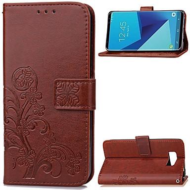 Недорогие Чехлы и кейсы для Galaxy S-Кейс для Назначение SSamsung Galaxy S8 Plus / S8 Кошелек / Бумажник для карт / со стендом Чехол Однотонный Мягкий Кожа PU