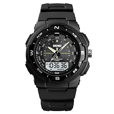Χαμηλού Κόστους Ανδρικά ρολόγια-SKMEI Ανδρικά Αθλητικό Ρολόι Στρατιωτικό Ρολόι Ψηφιακό ρολόι Ψηφιακό Συνθετικό δέρμα με επένδυση Μαύρο / Πράσινο 50 m Συναγερμός Χρονογράφος Τριπλές Ζώνες Ώρας Αναλογικό-Ψηφιακό Καθημερινό Μοντέρνα -