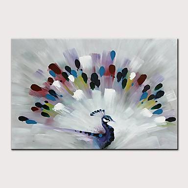 economico Arte muraria-Hang-Dipinto ad olio Dipinta a mano - Astratto Pop Art Modern Senza telaio interno / Tela arrotolata