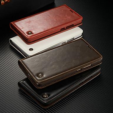 voordelige Huawei Mate hoesjes / covers-hoesje Voor Huawei Mate 9 Portemonnee / Kaarthouder / met standaard Volledig hoesje Effen Hard PU-nahka