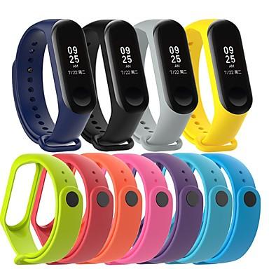 billige Klokkeremmer til Xiaomi-Klokkerem til Mi Band 3 Xiaomi Sportsrem Silikon Håndleddsrem