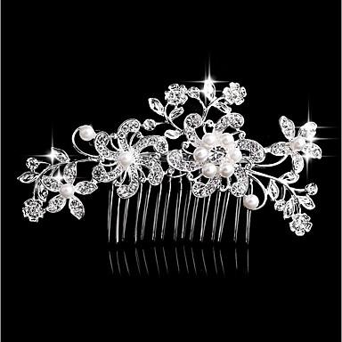 Pentru femei Modă Imitație de Perle Ștras Aliaj Veșminte de cap Nuntă Zilnic - Floral / Leaf Shape