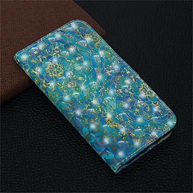 voordelige iPhone 6 hoesjes-hoesje Voor Apple iPhone XS / iPhone XR / iPhone XS Max Portemonnee / Kaarthouder / met standaard Volledig hoesje Mandala / Bloem Hard PU-nahka