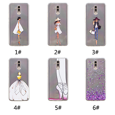 voordelige Huawei Y-serie hoesjes / covers-hoesje Voor Huawei Huawei Nova 3i / Huawei P20 / Huawei P20 Pro Patroon Achterkant Hart / Sexy dame Zacht TPU