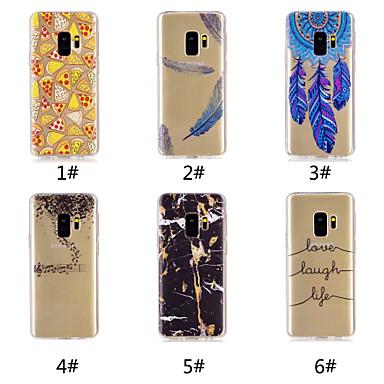 voordelige Galaxy S-serie hoesjes / covers-hoesje Voor Samsung Galaxy S9 / S9 Plus / S8 Plus Patroon Achterkant Voedsel / Woord / tekst / Veren Zacht TPU