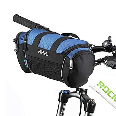 رخيصةأون حقائب الدراجة-ROSWHEEL حقيبة المقود للدراجة حقيبة الكتف مكتشف الرطوبة يمكن ارتداؤها مقاومة الهزة حقيبة الدراجة PVC 600D بوليستر حقيبة الدراجة حقيبة الدراجة Samsung Galaxy S6 أخضر / الدراجة / سحاب مقاوم للماء