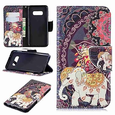 voordelige Galaxy S-serie hoesjes / covers-hoesje Voor Samsung Galaxy S9 / S9 Plus / S8 Plus Portemonnee / Kaarthouder / met standaard Volledig hoesje Olifant Hard PU-nahka