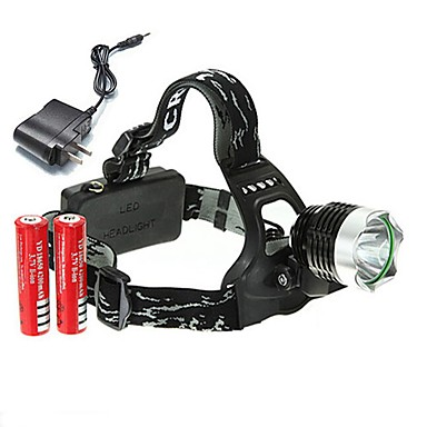 ieftine Frontale-U'King Frontale Becul farurilor 2000 lm LED LED emițători 3 Mod Zbor cu Baterii și Încărcătoare Dimensiune Compactă De mare putere Ușor de Purtat Camping / Cățărare / Speologie Utilizare Zilnic