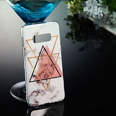 Недорогие Чехлы и кейсы для Galaxy S6 Edge-Кейс для Назначение SSamsung Galaxy S9 / S9 Plus / S8 Plus С узором Кейс на заднюю панель Мрамор Мягкий ТПУ